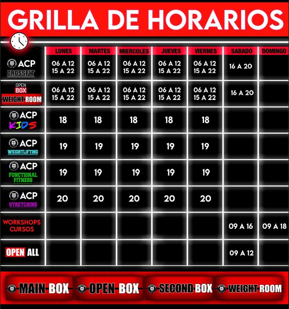 Grilla de Horarios 2021